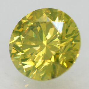 0.06 Ct Fancy Vivid Yellowish Green SI3 100% Natural Round Brilliant Diamond  #6