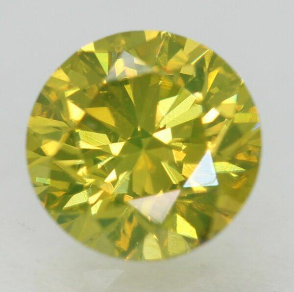 0.06 Ct Fancy Vivid Yellowish Green SI3 100% Natural Round Brilliant Diamond  #6