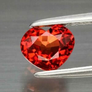 Clean! 1.01ct 5.8x5mm IF Heart Natural Orangish Red Sapphire Songea, Tanzania #60