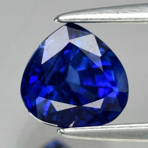 Marvellous!! GIA Certified VVS 1.04ct 6×5.8mm Pear Natural Blue Sapphire Ceylon #175