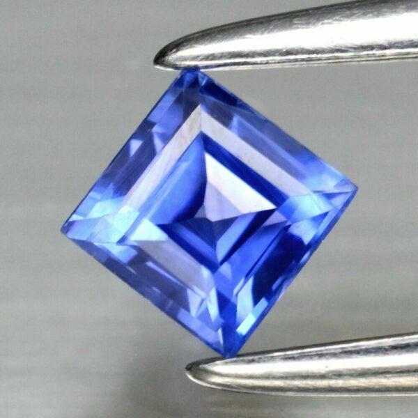 Super Clean! 0.26ct 3.2mm IF Square Natural Blue Sapphire Ceylon, #19