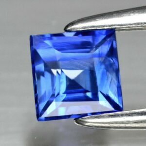 VS 0.42ct 3.7mm Square Natural Blue Sapphire Sri Lanka Ceylon, #14
