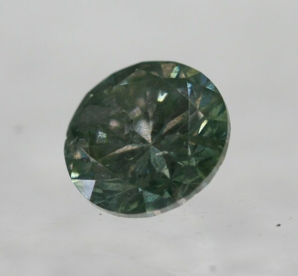 Cert 0.52 Carat Yellow Green SI2 Round Brilliant Natural Diamond 5.12m #100