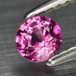 0.45ct 4.4mm Round Natural Pink Sapphire Madagascar, #14