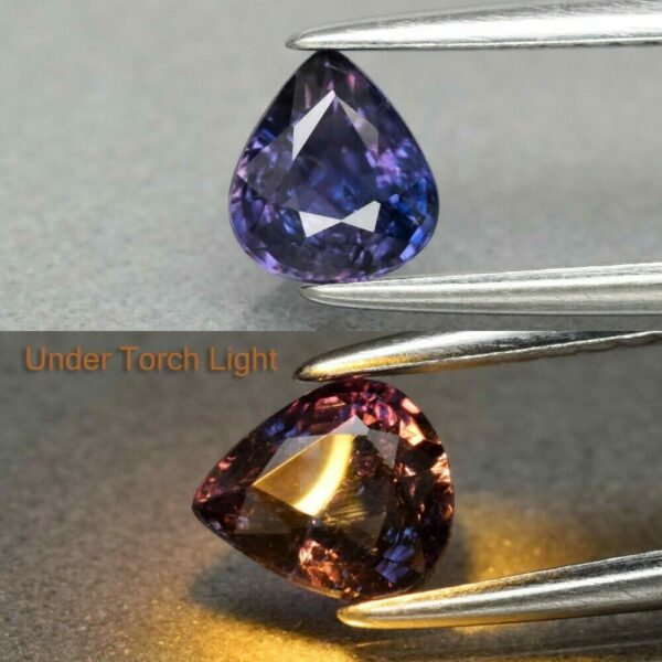 Sapphire 0.62ct 5.5x5mm Pear Natural Unheated Untreated Colour Change  #18