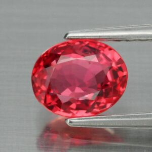 1.03ct 6.4×5.3mm VVS Oval Natural Orange Sapphire Songea, Tanzania #40