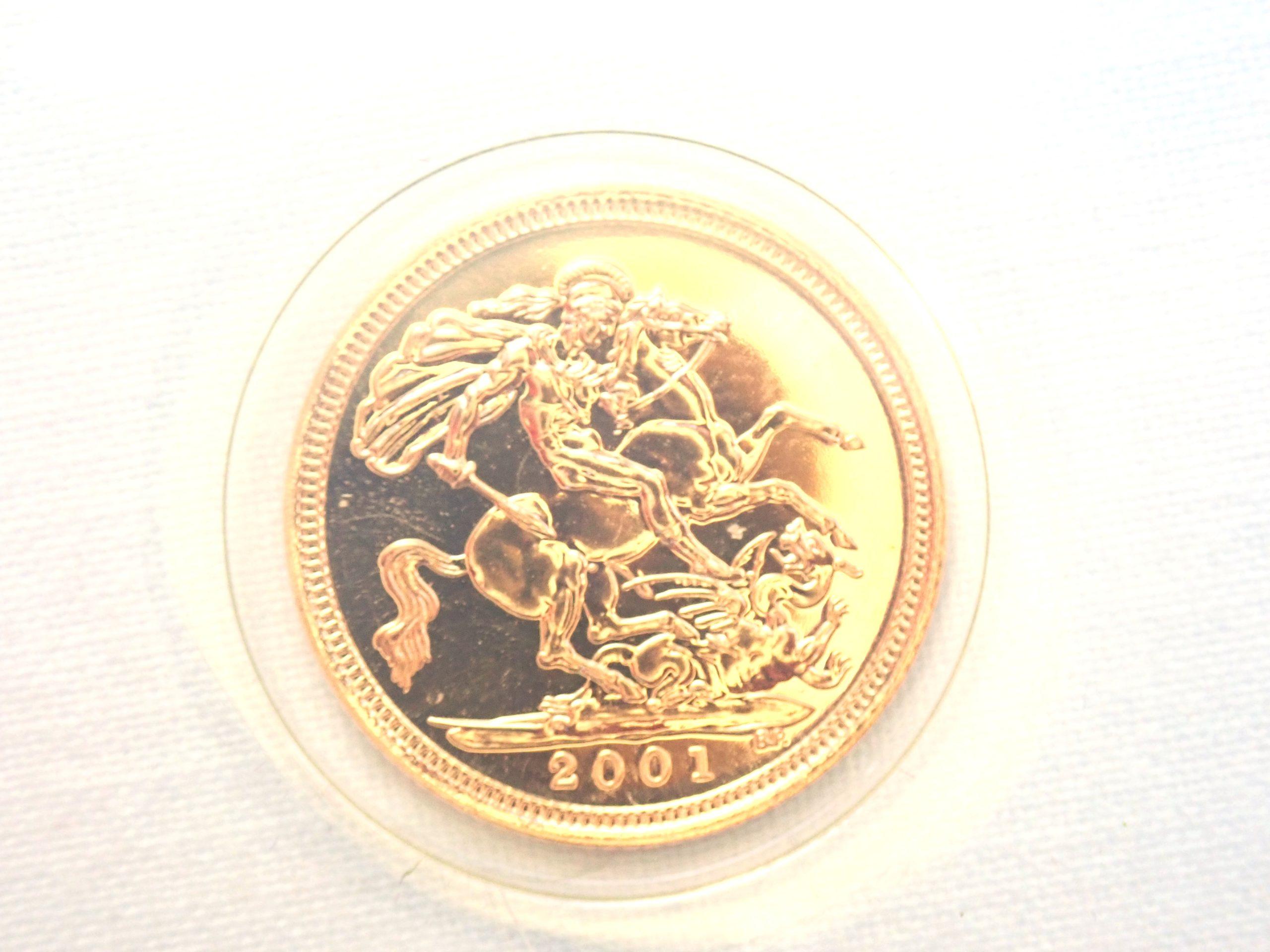 Boxed 2001 Proof Gold Half Sovereign 22k Elizabeth II 2001 #175