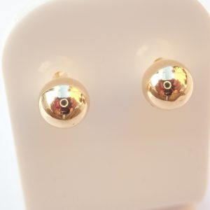 Yellow 375 Gold Ball Earrings Pierced, 9k #13