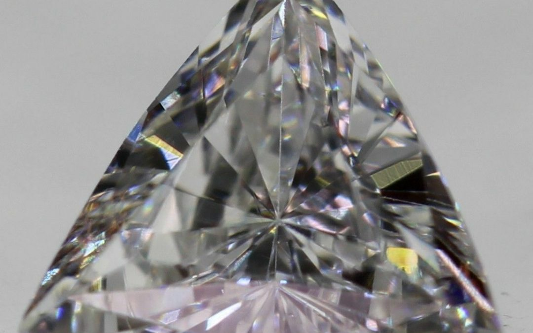 Stunning!! Trillion cut Diamond D colour VVS2 Clarity