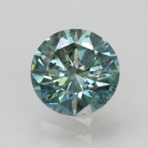 A 300x300 - 0.28 Ct Fancy Vivid Greenish Blue Round Brilliant Enhanced Natural Diamond 4.08m #26