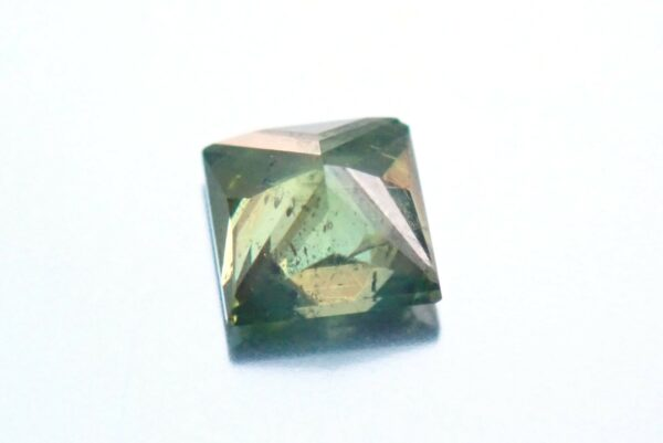 0.19 Carat Fancy Vivid Green SI3 Princess Enhanced Natural Diamond 3.15X3.14mm #10