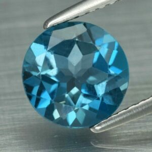 Certified 2.41ct 8.3mm VVS Round Natural London Blue Topaz, Brazil #5