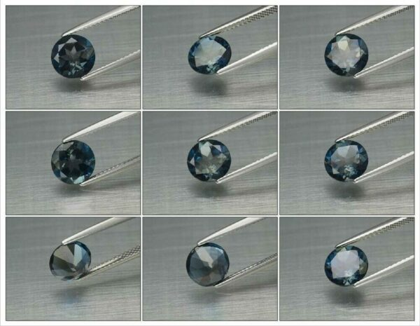 Certified! 2.04ct 8mm IF Round Natural London Blue Topaz, Brazil #12