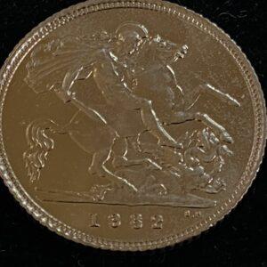 1982 Gold Half Sovereign Elizabeth II Decimal Head VF Condition
