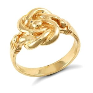 Gentlemen's Solid 9ct yellow gold hand finished 10g knot ring.