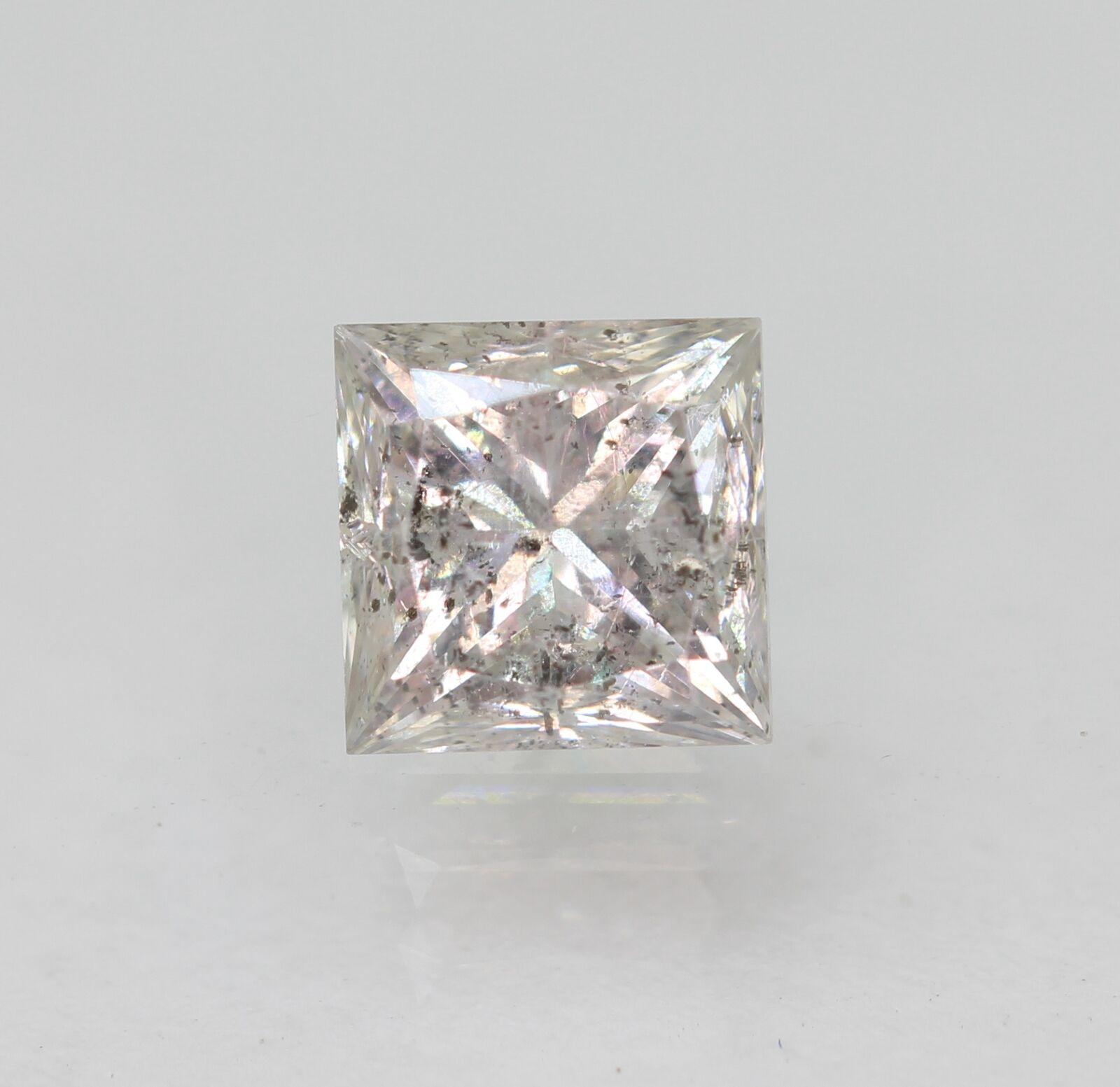 Certified 0.64 Carat H SI2 Princess Natural Loose Diamond 4.43×4.4mm