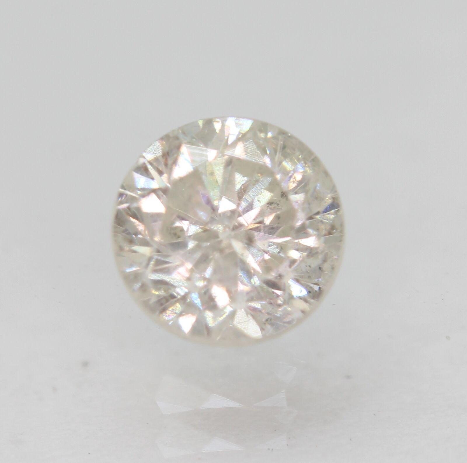 Certified 0.78 Carat H SI2 Round Brilliant Natural Loose Diamond 5.55mm