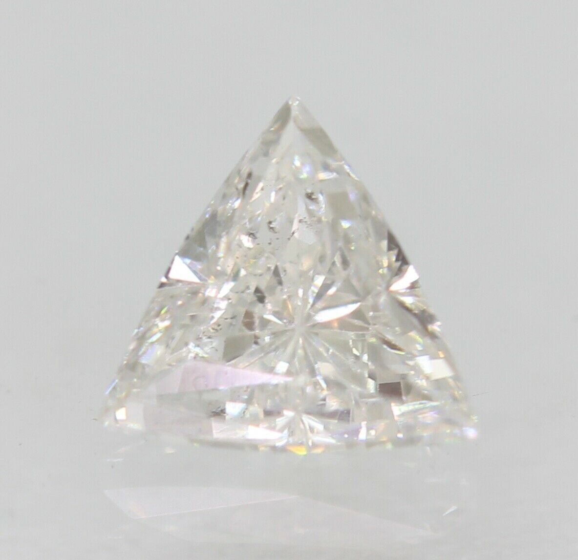 a 9 - 0.28 Carat D Colour SI2 Triangle Natural Loose Diamond For Jewellery 4.55X4.44mm