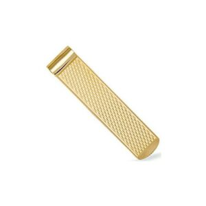 Solid 9ct yellow gold hand finished money clip diamond criss cross pattern