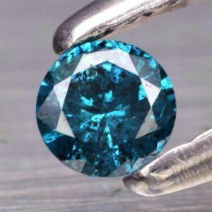 Rare! 0.07ct 2.7mm Round Brilliant Natural Fancy Blue Diamond, Africa