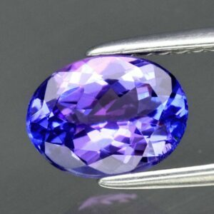 Certified! 1.21ct 7.8x6mm VVS Oval Natural Violet Blue Tanzanite, #55