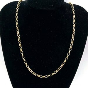 Stunning! Solid 9ct Oval linked Belcher chain 9.19 Grams 19 Inches 9.19 grams #120