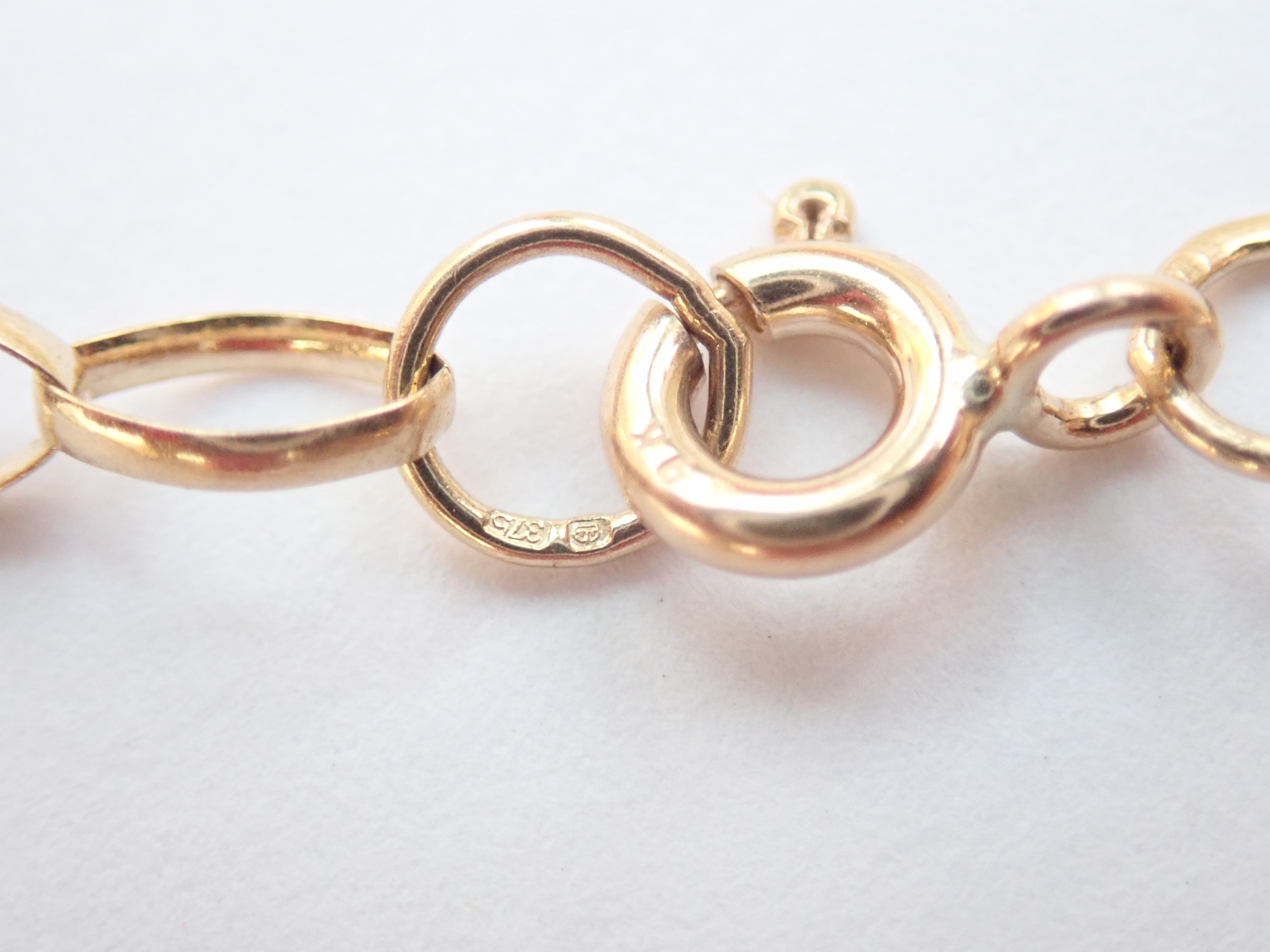 Stunning! Solid 9ct Belcher Rolo chain 3.95 Grams 24 Inch #60