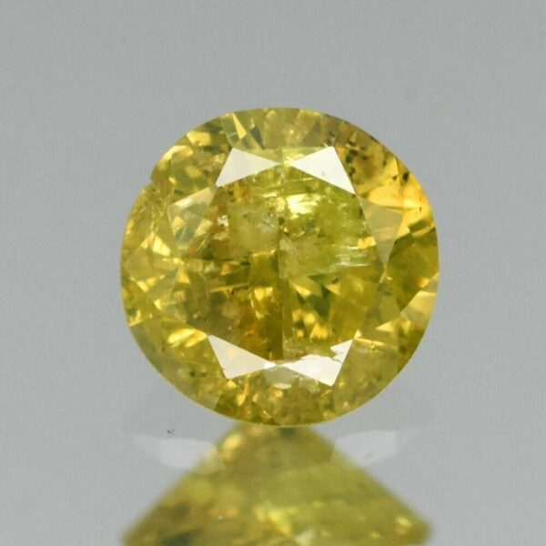 Certified Rare! 0.13ct 3.2mm Round Brilliant Natural Fancy Yellow Diamond, Africa #20