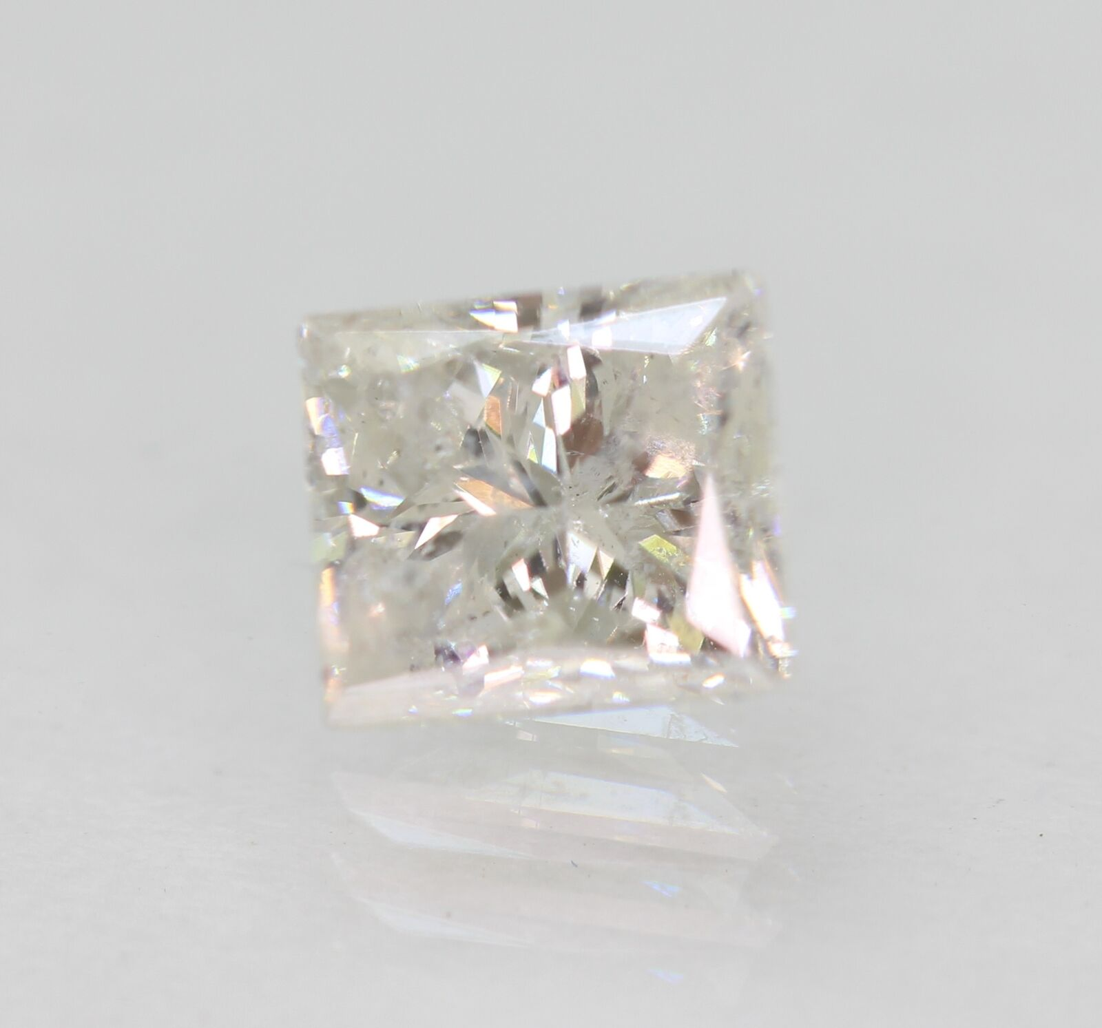 Certified 0.96 Carat F SI2 Princess Natural Loose Diamond 5.38×4.8mm #270