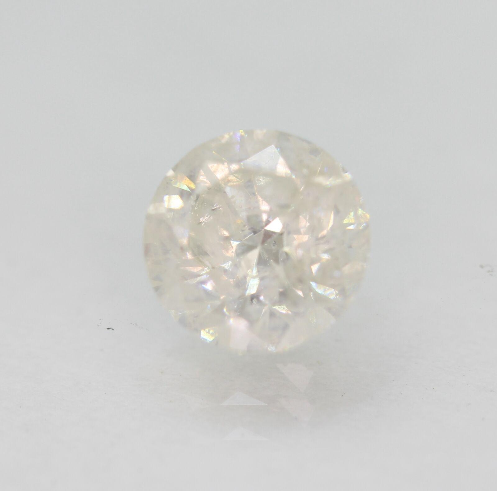 Certified 1.15 Carat H SI3 Round Brilliant Natural Loose Diamond 6.49mm #310