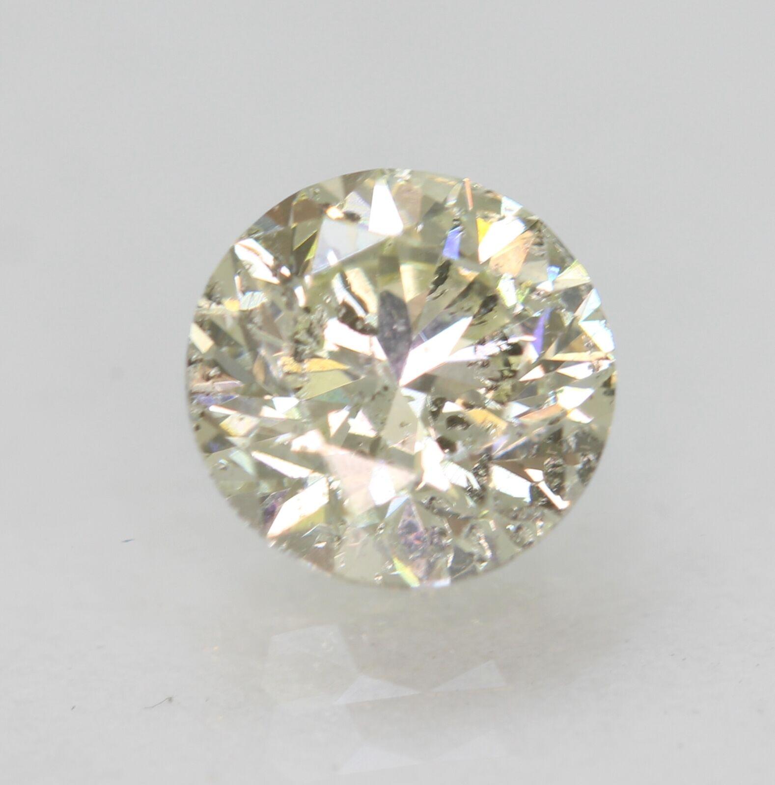 Certified 1.15 Carat H SI3 Round Brilliant Natural Loose Diamond 6.49mm