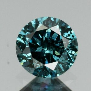 Certified Rare! 0.34ct 4.4mm Round Brilliant Natural Fancy Blue Diamond, Africa #45