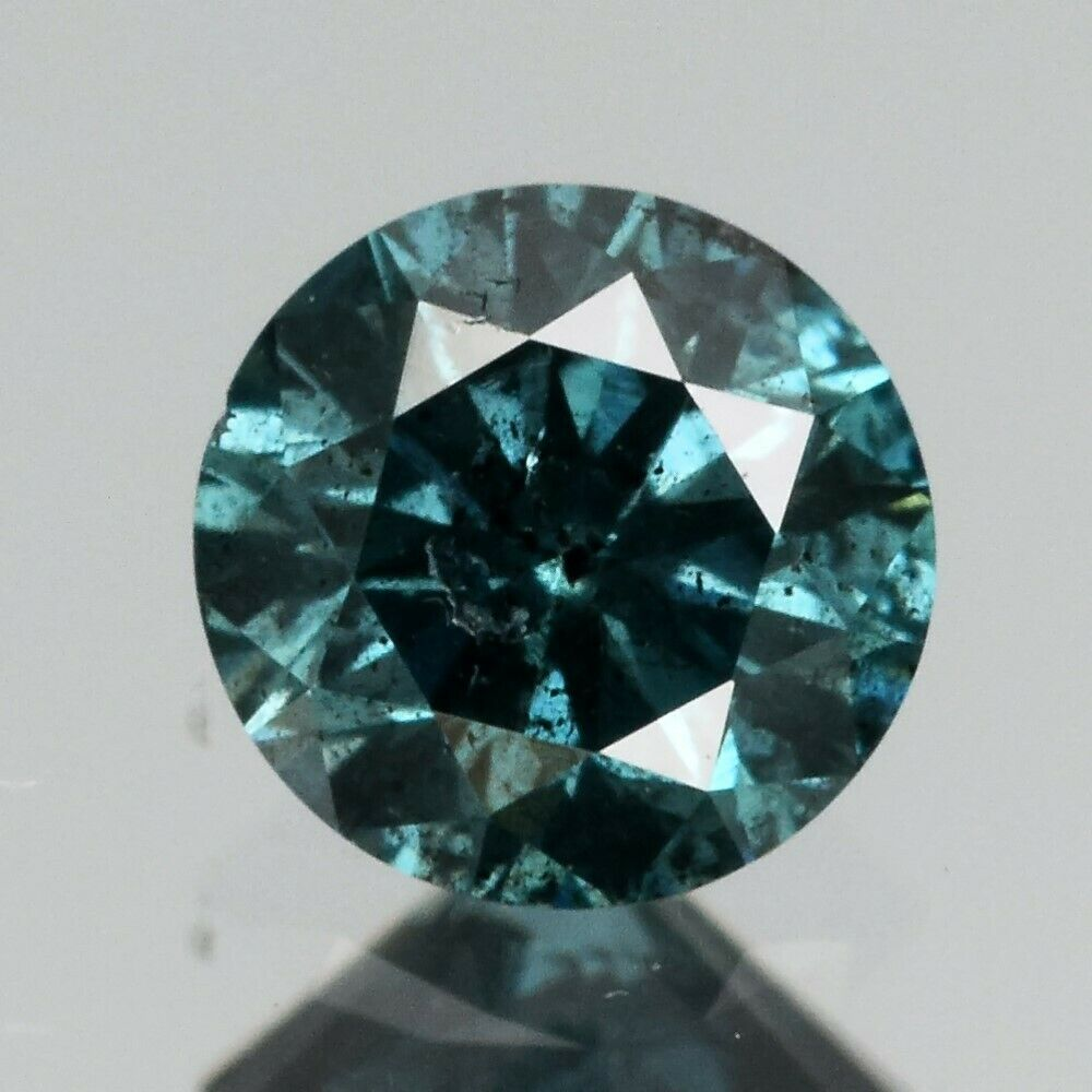 Certified Rare! 0.30ct 4mm Round Brilliant Natural Fancy Blue Diamond, Africa #40