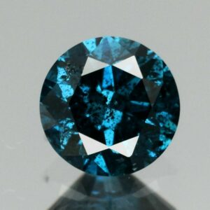 Certified Rare! 0.28ct 4.2mm Round Brilliant Natural Fancy Blue Diamond, Africa #38