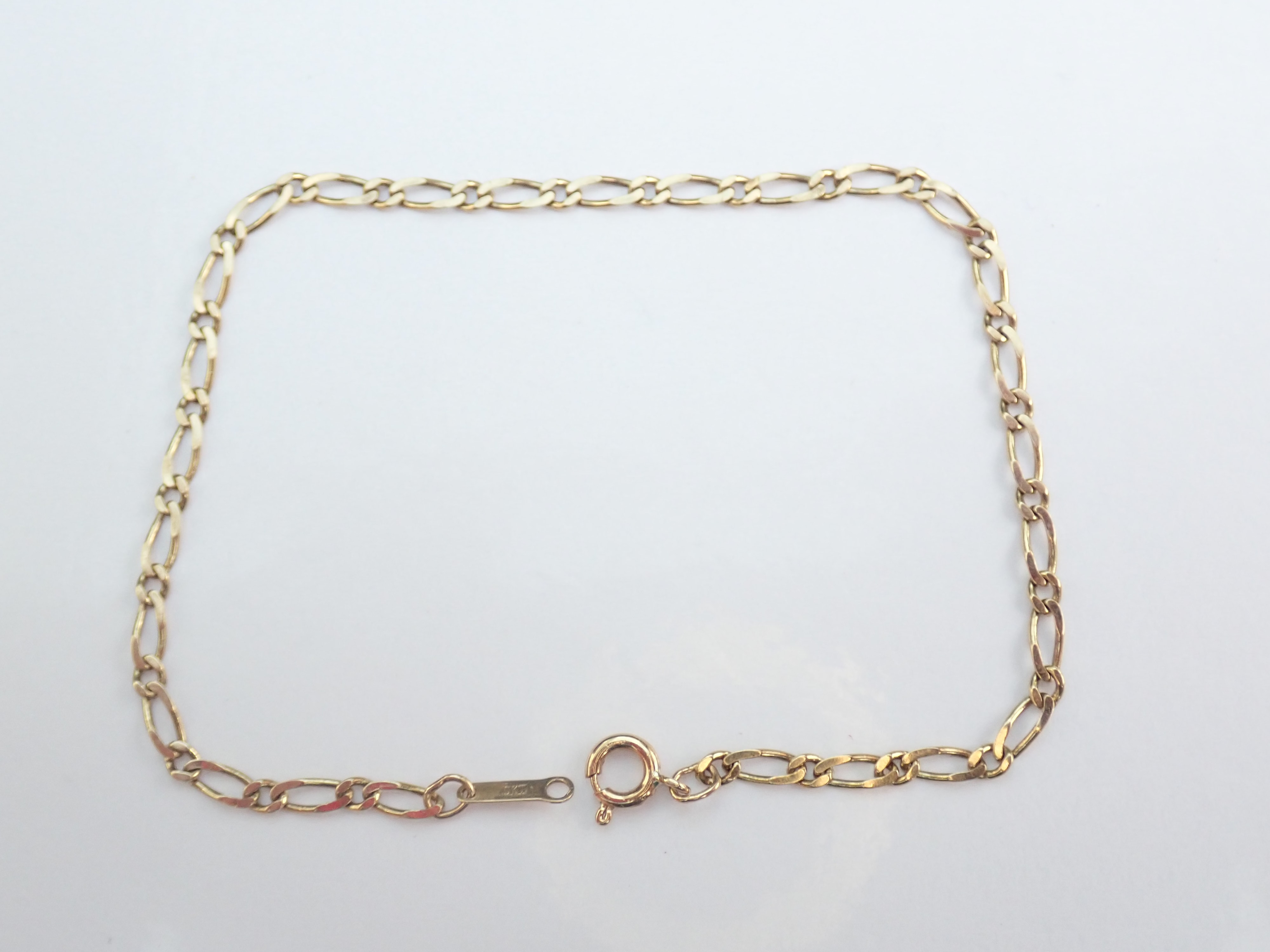 Solid 9ct Yellow Gold Double Link Bracelet 7.5 Inch 19cm  22.2 Grams #420