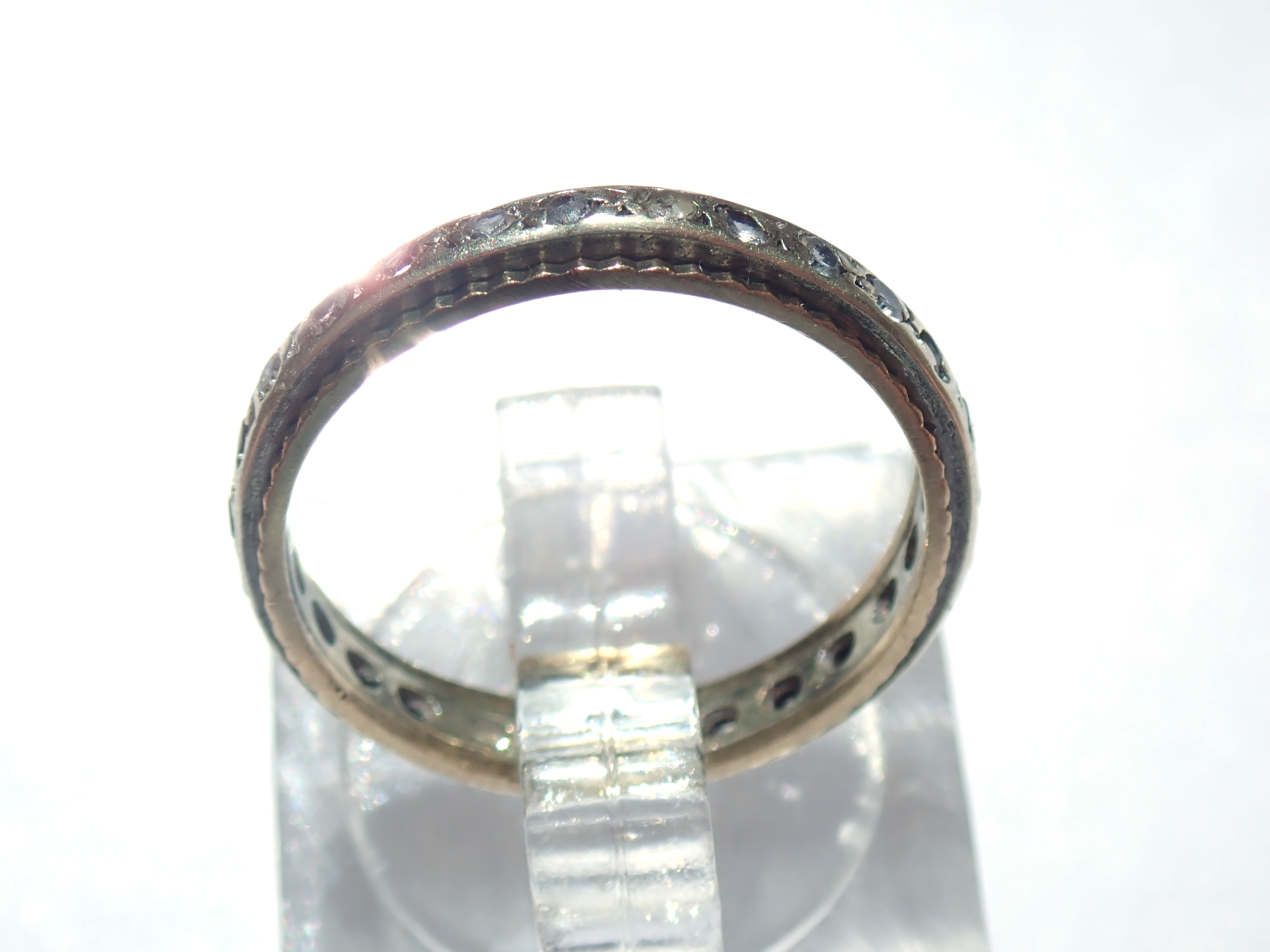 375 9ct Gold Cubic Zirconia Full Eternity Ring Size L1/2 – 2.0gms #33