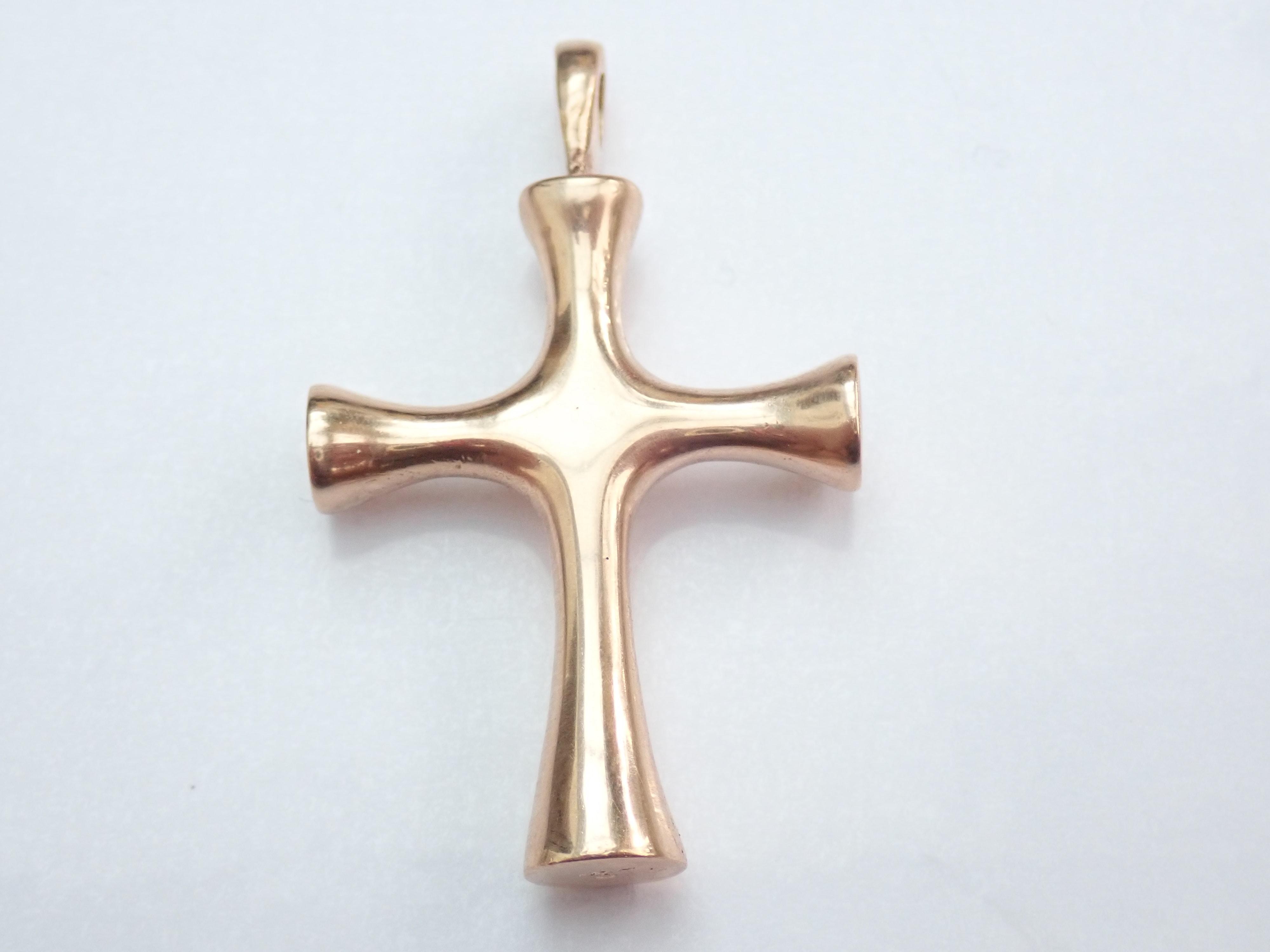 9K Gold Cross Crucifix Pendant No Chain 8.85gms #145