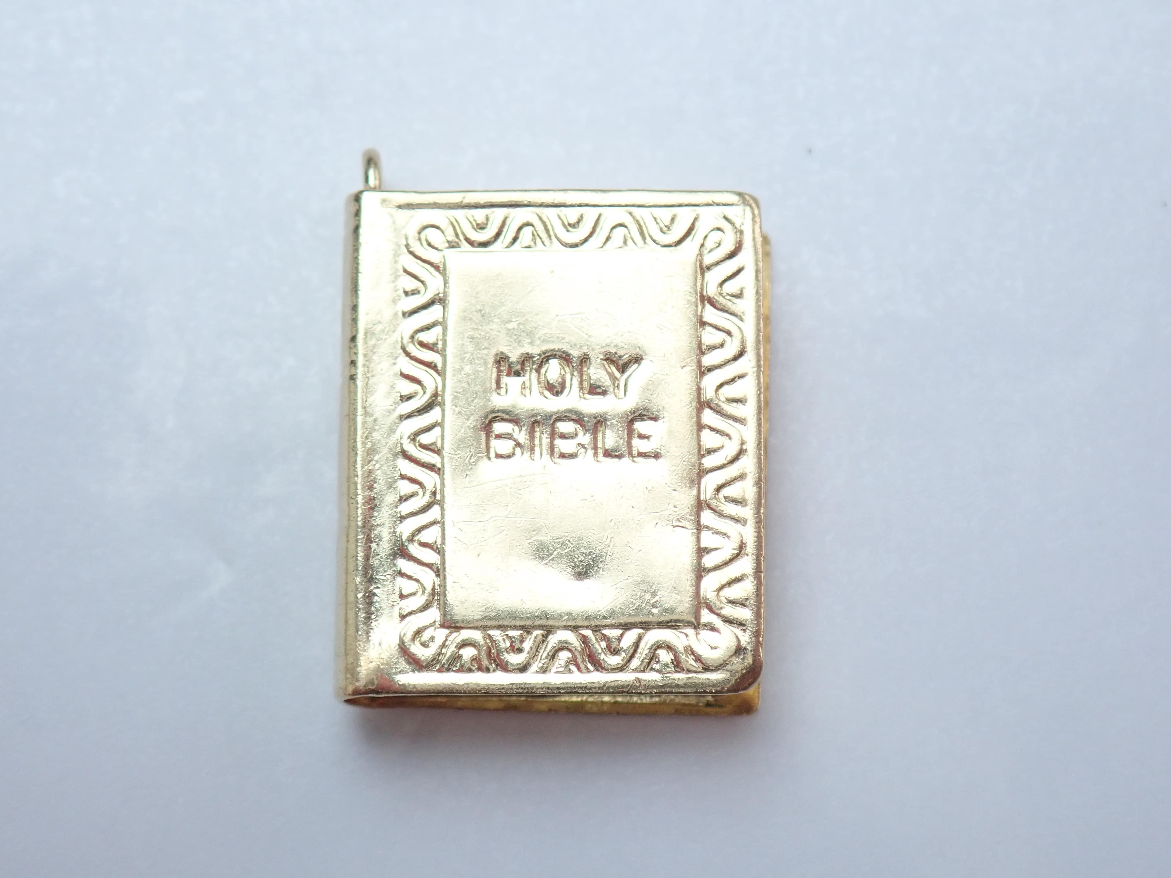 375 Yellow Gold 9ct Holy Bible Pendant Charm -1.36gms #26