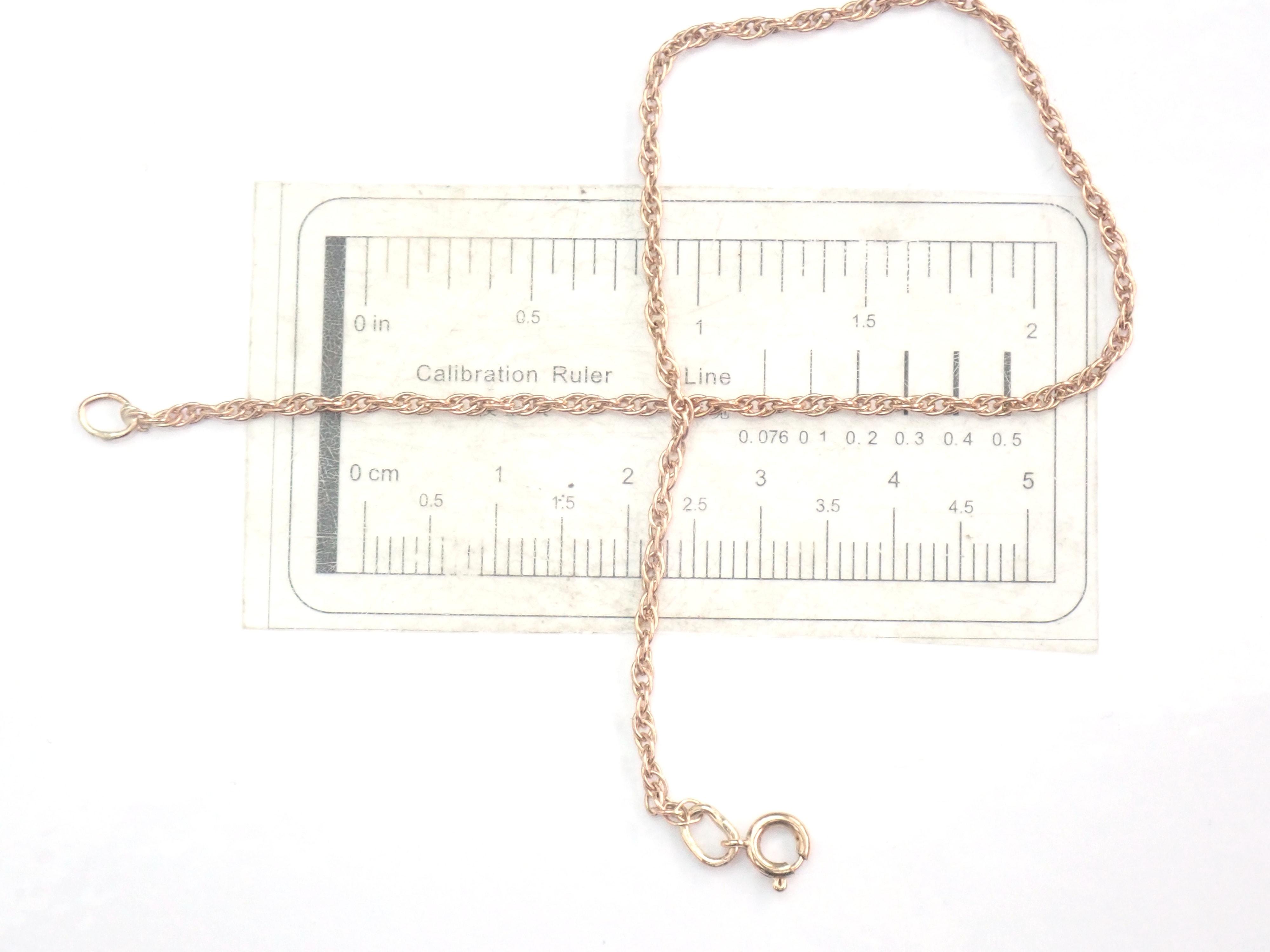 9k Rose Gold Prince of Wales linked Chain Bracelet 8″ – 1.6gms #20