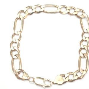 9k Gold Figaro link Bracelet 8.75″ – 15.52gms #310