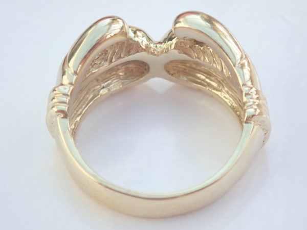 375 Solid 9ct Yellow Gold Boxing Glove Ring Size X 16.6 gms #395