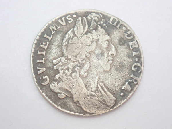 William III Silver Six Pence EF 1St Bust 1697- #50