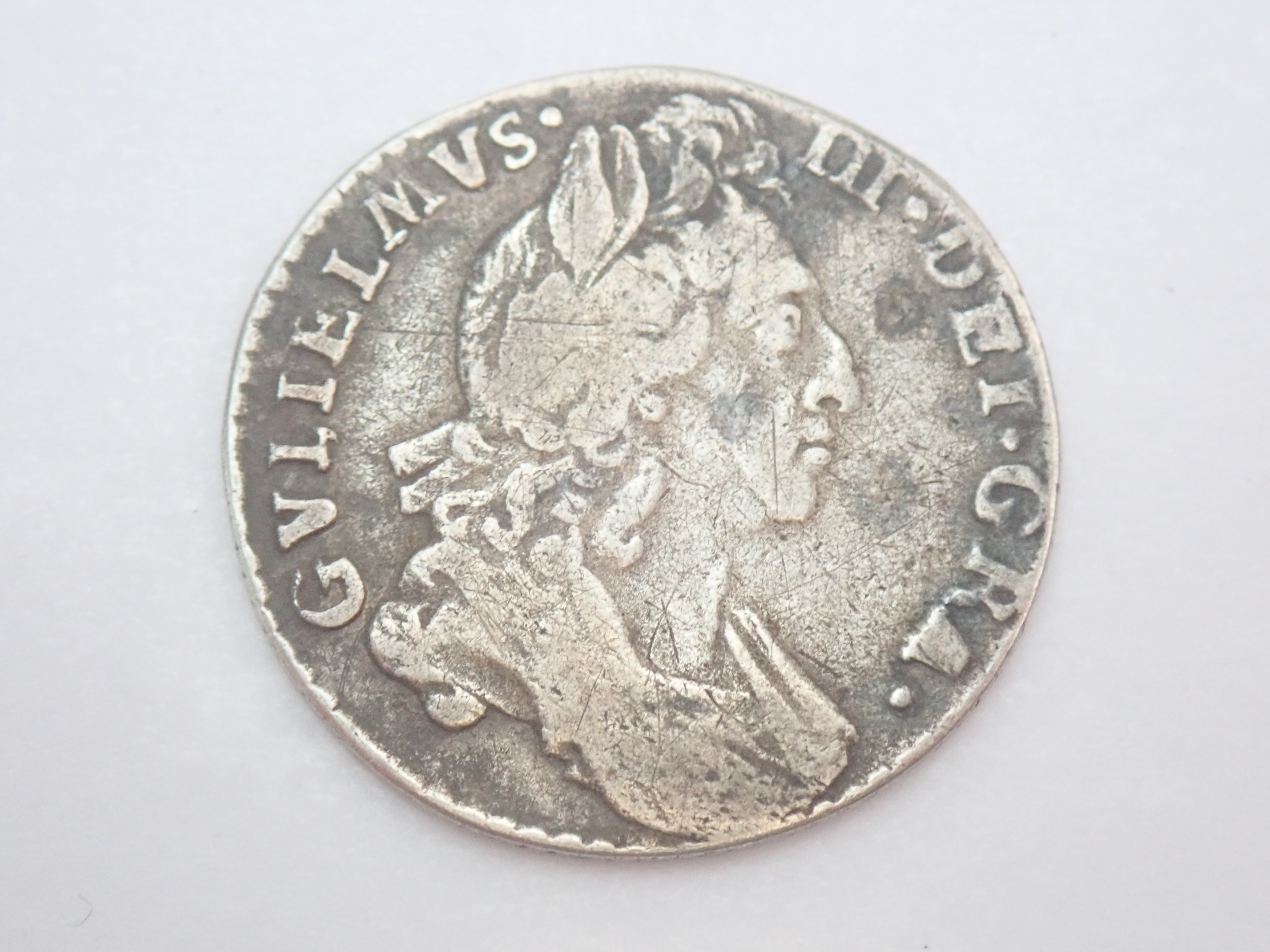 AZZ00795 - William III Silver Six Pence EF 1St Bust 1697- #50