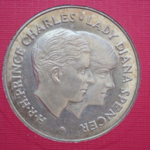 Charles & Diana Royal Wedding 9ct Gold Souvenir Medal,  July 29th 1981, 4gms,