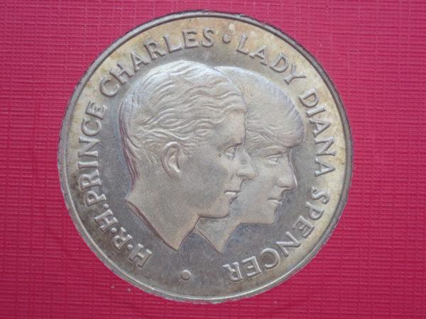 Charles & Diana Royal Wedding 9ct Gold Souvenir Medal,  July 29th 1981, 4gms,
