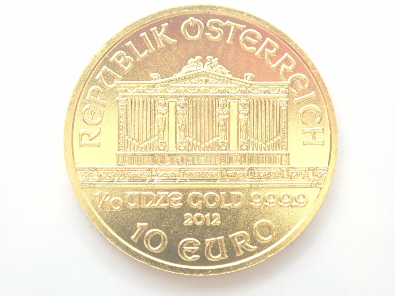2012 Austrian Philharmonic Tenth Ounce 24 Carat Gold Coin