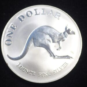 1993 Fine 999.9 Silver Proof 1oz Australian Kangaroo $1 One Dollar Coin #21
