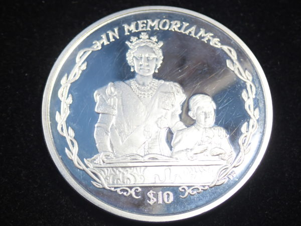 Proof 10 Dollar – Elizabeth II Queen Mother & Young Prince Charles 925 Silver Coin British Virgin Islands #21