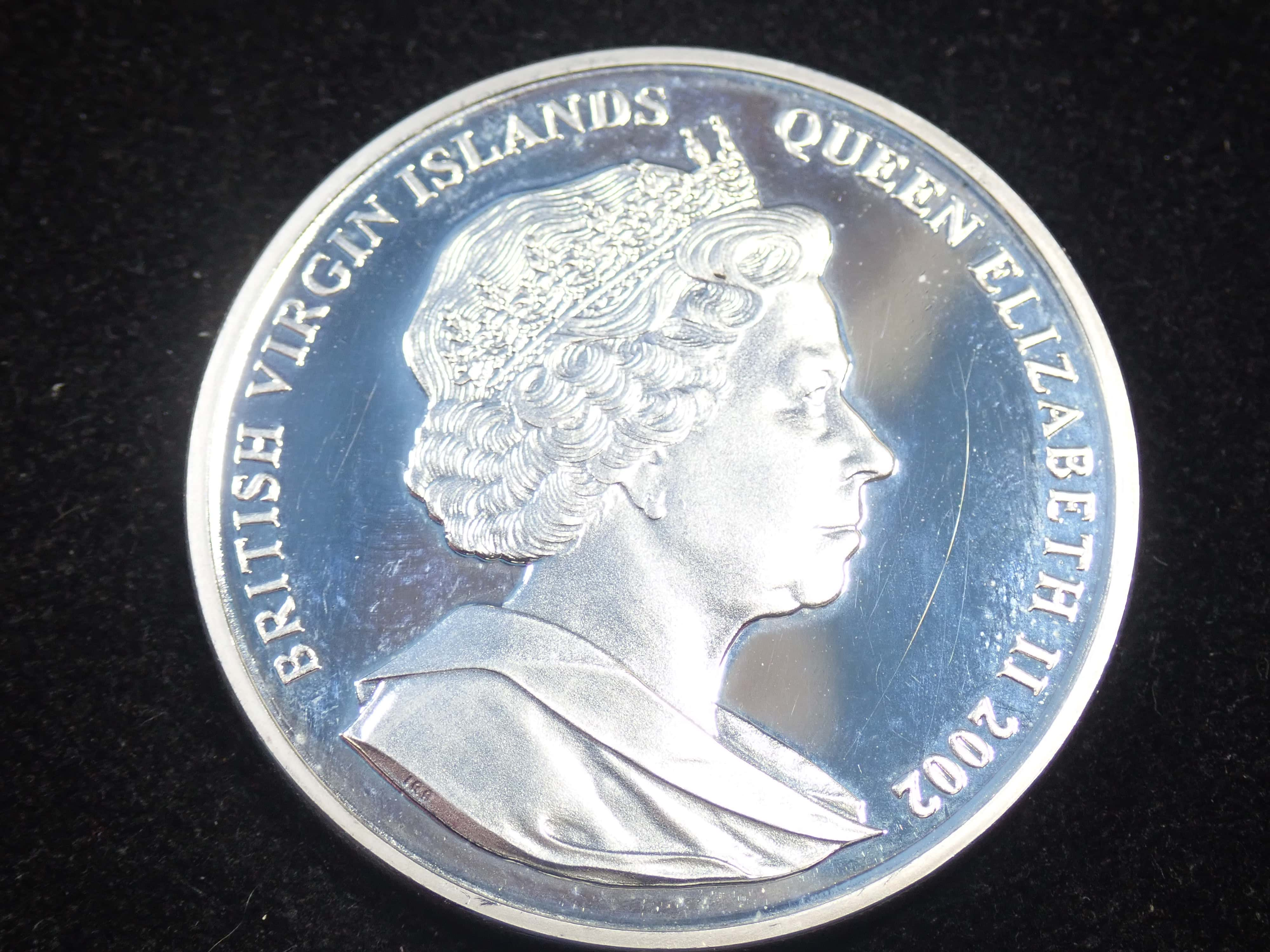 AZZ00831 - Proof 10 Dollar - Elizabeth II Queen Mother & Young Prince Charles 925 Silver Coin British Virgin Islands #21