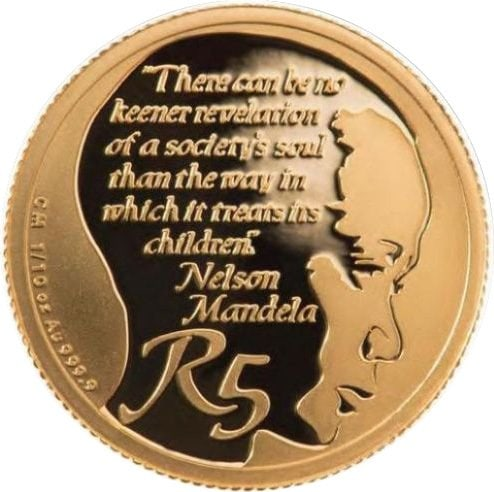 r5 - 2013 South African Gold R5 'roof 'Life of a Legend Series' -Nelson Mandela 3.11 gms